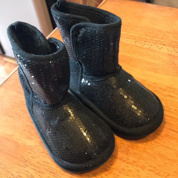 28e85b8d1a7f jcpenney Other - Black sequence boots Toddler girls size 7